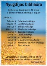 Nyugdíjas bibliaóra plakát